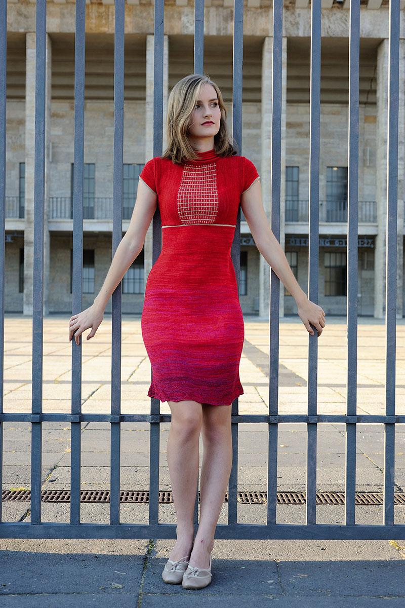 Red dress knitwear