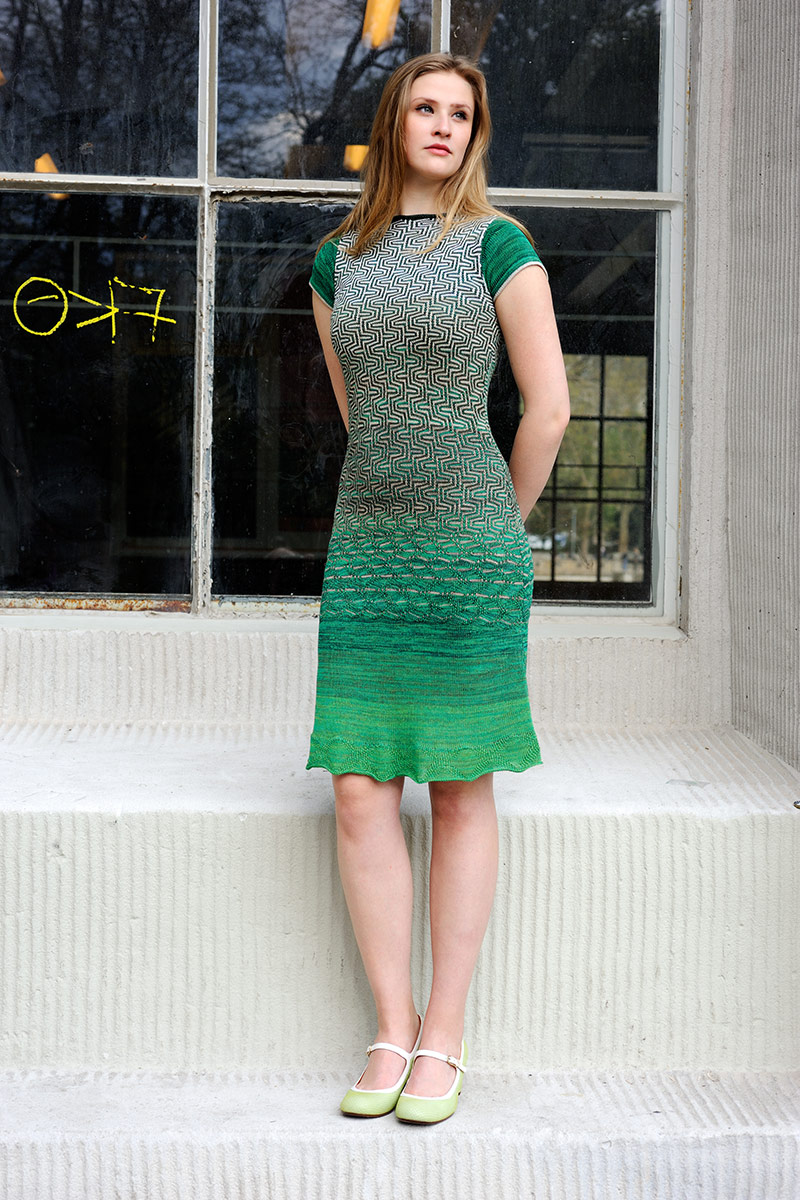 Green dress Manfreda Knitwear